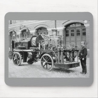 German Fire Engine, early 1900s Mouse Pad