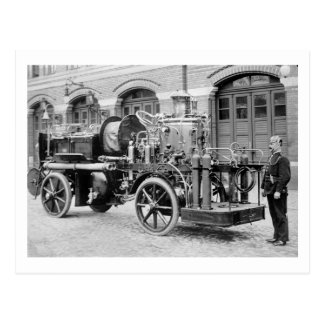 German Fire Engine, early 1900s Postcard