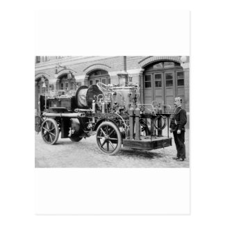 German Fire Engine, early 1900s Postcard