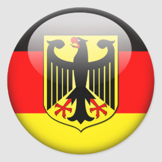 German Flag 2.0 Classic Round Sticker
