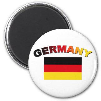 German Flag 2 Inch Round Magnet