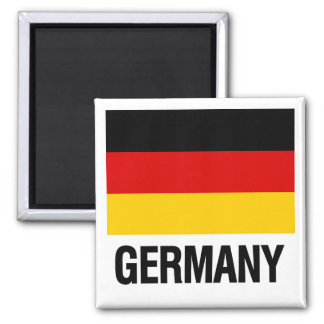 German Flag 2 Inch Square Magnet