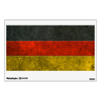 German Flag Aged Steel Effect Wall Decal