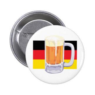 German Flag & Beer 2 Inch Round Button