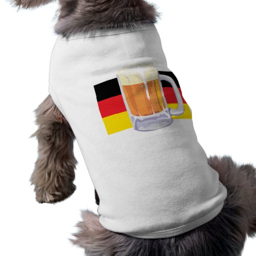 German Flag & Beer Doggie T-shirt