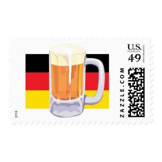 German Flag & Beer Postage