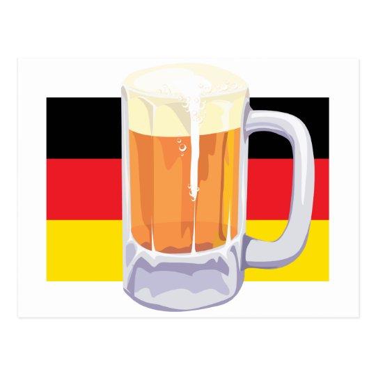 German Flag & Beer Postcard