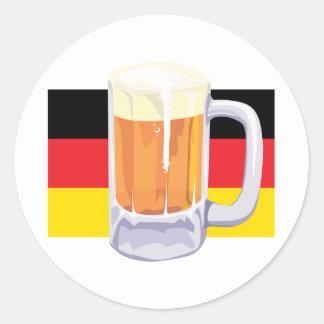 German Flag & Beer Round Stickers