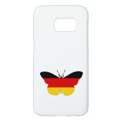 German Flag - Butterfly Samsung Galaxy S7 Case