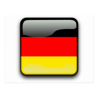German Flag Button Postcard