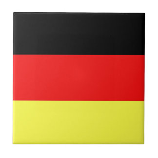 German Flag Ceramic Tile