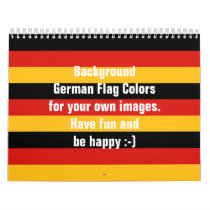 GERMAN FLAG COLORS CALENDAR for your own images
