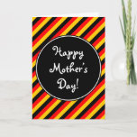 """[ Thumbnail: German Flag Colors """"Happy Mother's Day"""" Card ]"""