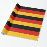 GERMAN FLAG COLORS WRAPPING PAPER