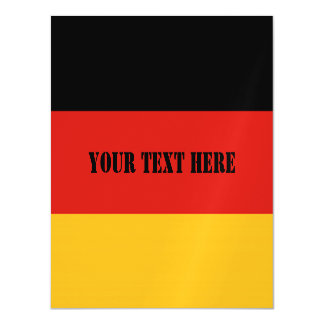 GERMAN FLAG COLORS + your ideas Magnetic Card