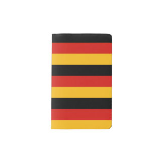 GERMAN FLAG COLORS + your ideas Pocket Moleskine Notebook Cover With Notebook
