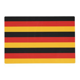 GERMAN FLAG COLORS + your ideas Placemat