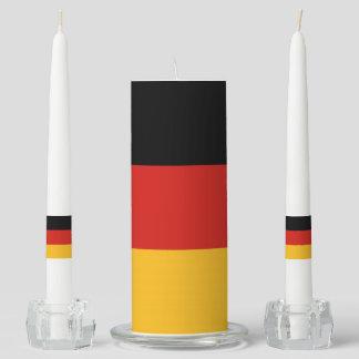 GERMAN FLAG COLORS + your ideas Unity Candle Set