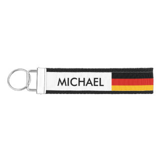 GERMAN FLAG COLORS + your ideas Wrist Keychain