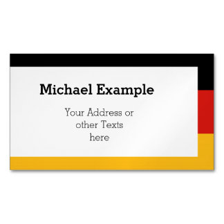 GERMAN FLAG COLORS + your text & ideas Magnetic Business Card
