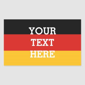 GERMAN FLAG COLORS + your text Rectangular Stickers