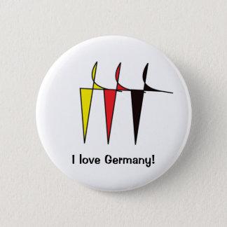 German flag colours Button