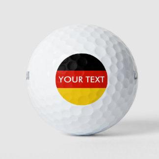 German flag custom golf ball set for Germany