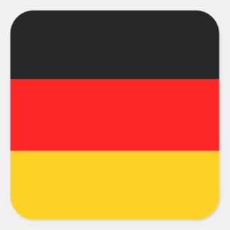 German Flag Deutsche Flagge Square Sticker