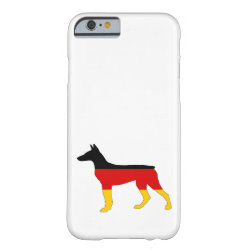 German Flag - Dobermann Pinscher Barely There iPhone 6 Case