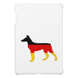 German Flag - Dobermann Pinscher iPad Mini Cases