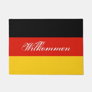 German flag door mat with Germany welcome text