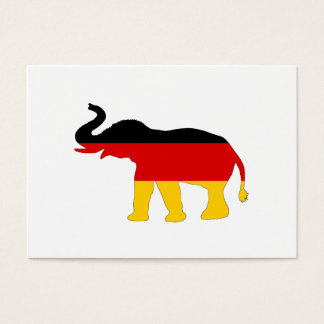 German Flag - Elephant Business Card