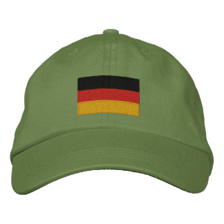 German flag embroidered adjustable cap