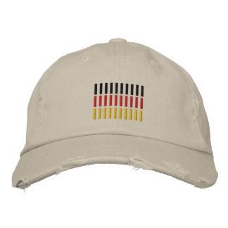 German Flag Embroidered Cap