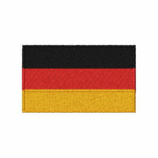 German flag embroidered men's long sleeve shirt