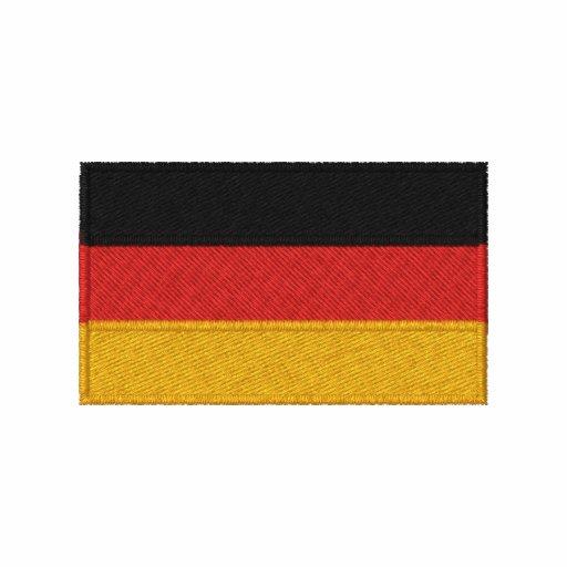 German flag embroidered men's long sleeve shirt