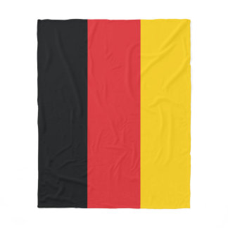 German Flag Fleece Blanket