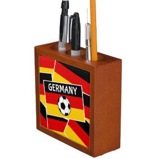 German Flag Football Desk Organizer