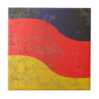 German Flag Grunge Ceramic Tile