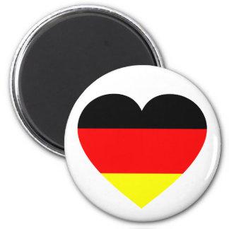 German Flag Heart 2 Inch Round Magnet