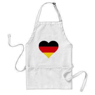 German Flag Heart Aprons