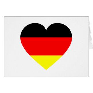 German Flag Heart Greeting Card