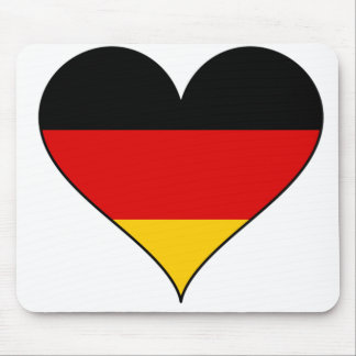 German Flag Heart Mouse Pad