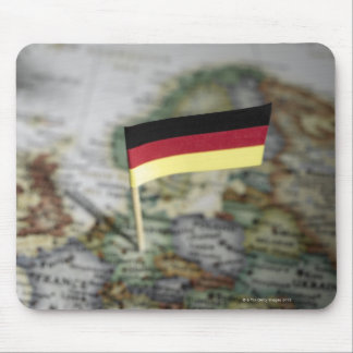 German flag in map mouse pad