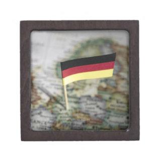 German flag in map premium trinket boxes