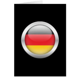 German Flag in Orb Greeting Card