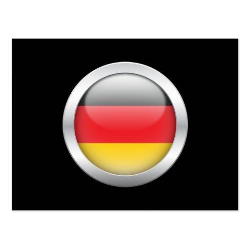 German Flag in Orb Postcard