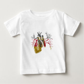 German Flag in Real heart Baby T-Shirt