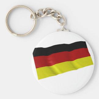 german flag basic round button keychain