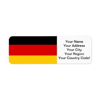 German Flag Label